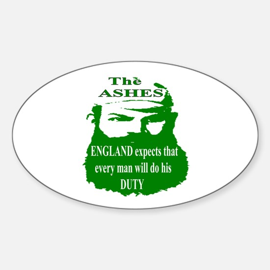 The ASHES Oval Decal