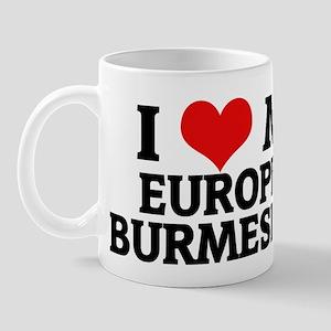 I Love My European Burmese Ca Mug