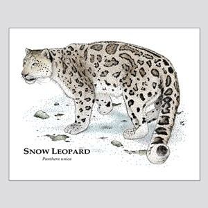 Snow Leopard Small Poster