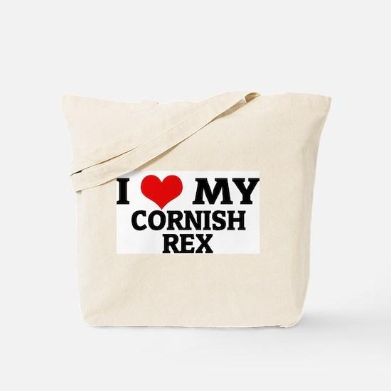 I Love My Cornish Rex Tote Bag