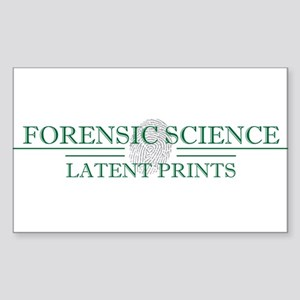 Latent Prints Sticker (Rectangle)