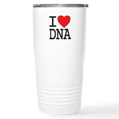 I Heart DNA Stainless Steel Travel Mug