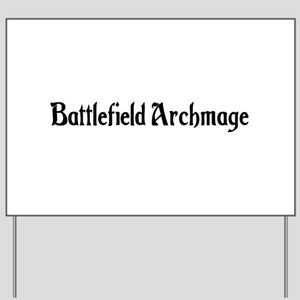 Battlefield Archmage Yard Sign