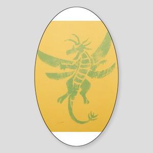 Dragon-Fly Oval Sticker