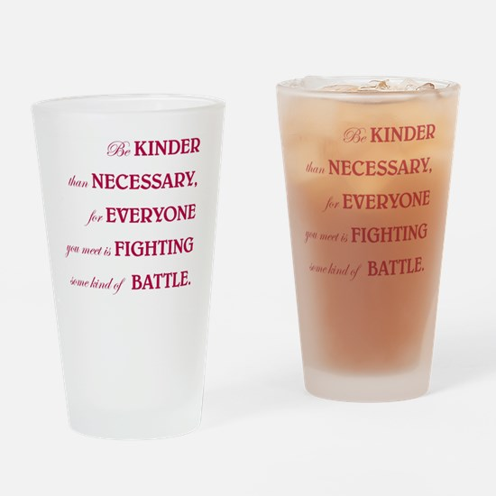 BE KINDER Drinking Glass