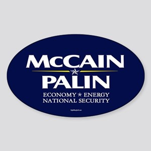 McCain Palin National Security Oval Sticker
