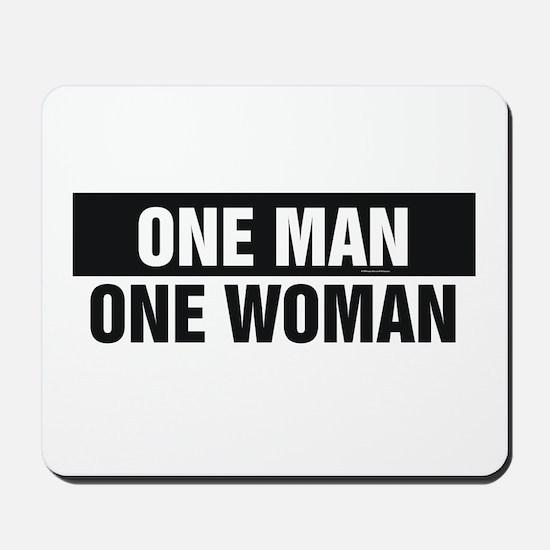 One Man One Woman Mousepad