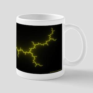 yellow/black Julia Set Mug