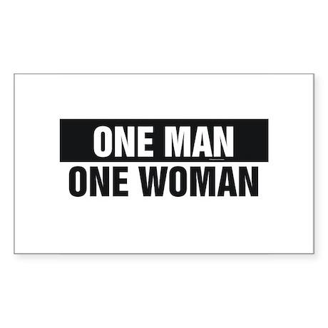 One Man One Woman Sticker (Rectangle 10 pk)