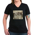 Deadwood Celebration Women's V-Neck Dark T-Shirt