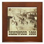 Deadwood Celebration Framed Tile