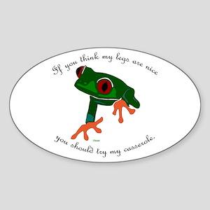 Nice Frog Legs Oval Sticker