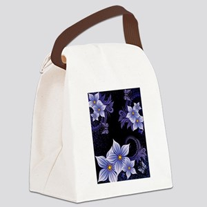 Flowers And Butterfly Canvas Lunch Bag