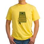 Alabama State Cornhole Champi Yellow T-Shirt