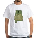 Alabama State Cornhole Champi White T-Shirt