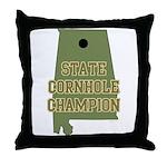 Alabama State Cornhole Champi Throw Pillow