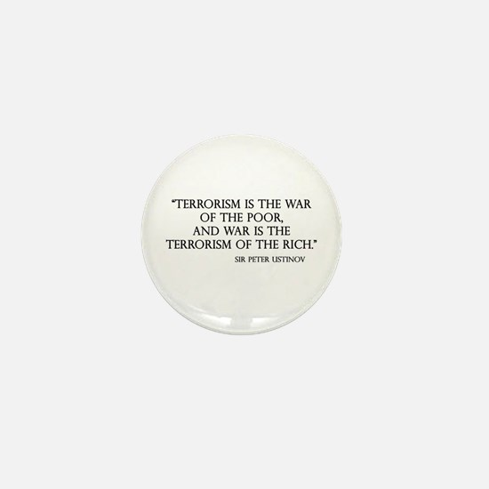 War and Terror Mini Button