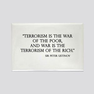 War and Terror Rectangle Magnet