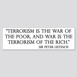 War and Terror Bumper Sticker