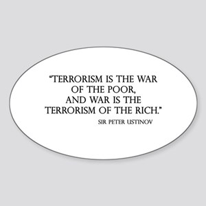 War and Terror Oval Sticker