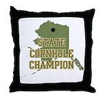 Alaska State Cornhole Champio Throw Pillow
