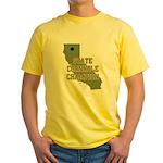 California State Cornhole Cha Yellow T-Shirt