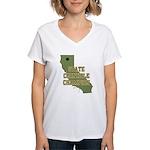 California State Cornhole Cha Women's V-Neck T-Shi
