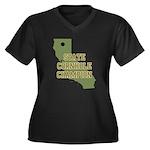California State Cornhole Cha Women's Plus Size V-