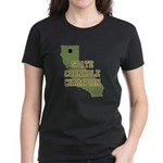 California State Cornhole Cha Women's Dark T-Shirt
