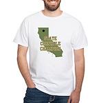 California State Cornhole Cha White T-Shirt