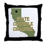 California State Cornhole Cha Throw Pillow