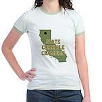 California State Cornhole Cha Jr. Ringer T-Shirt