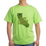 California State Cornhole Cha Green T-Shirt