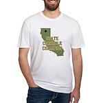 California State Cornhole Cha Fitted T-Shirt
