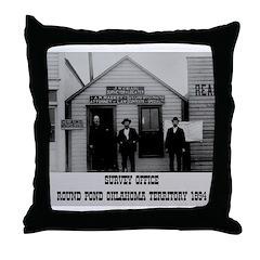 Round Pond Oklahoma Throw Pillow