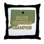 Connecticut State Cornhole Ch Throw Pillow