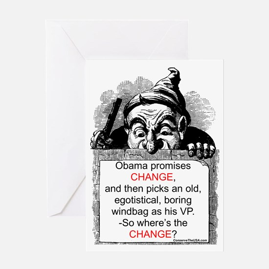"""Change, -What Change?"" Greeting Card"