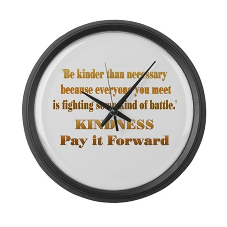 Kindness Large Wall Clock