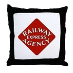 Railway Express Color Logo Throw Pillow