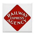 Railway Express Color Logo Tile Coaster