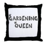 Gardening Queen Throw Pillow