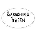 Gardening Queen Oval Sticker (50 pk)