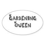 Gardening Queen Oval Sticker (10 pk)
