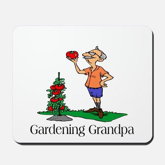 Gardening Grandpa Mousepad