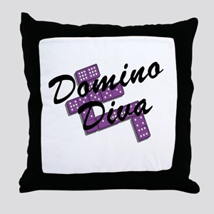Domino Diva Throw Pillow