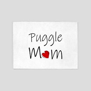 Puggle Mom 5'x7'Area Rug