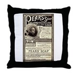 Pear's Soap Throw Pillow