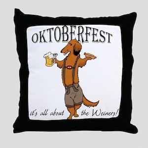 LH Oktoberfest Dachshund Throw Pillow