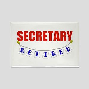 Retired Secretary Rectangle Magnet