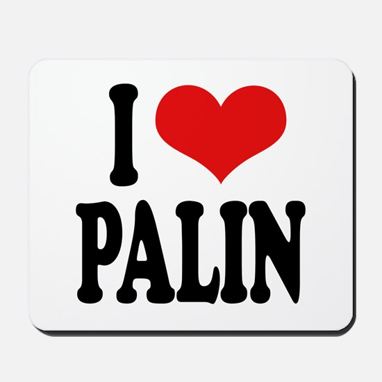 I Love Palin Mousepad